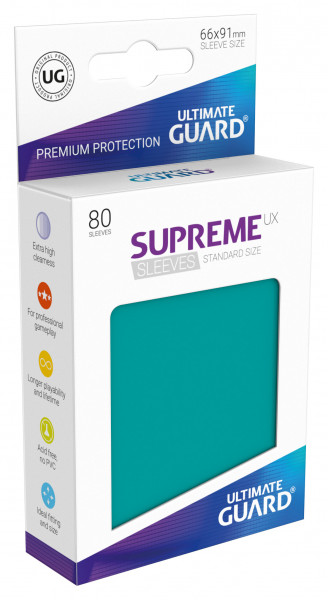 Supreme Sleeves Standard Size UX Petrol (80)
