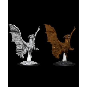 Dungeons & Dragons Nolzur`s Marvelous Unpainted Miniatures: W8 Young Copper Dragon