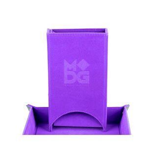 Fold Up Velvet Dice Tower Purple