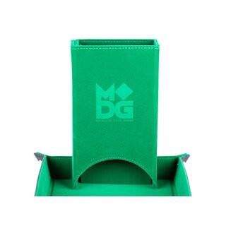 Fold Up Velvet Dice Tower Green