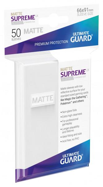 Supreme Sleeves Standard Size Slim Matt UX White (50)