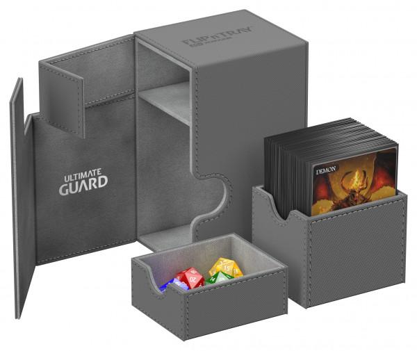 Flip´n´Tray Deck Case 80+ Standard Size XenoSkinTM Grey