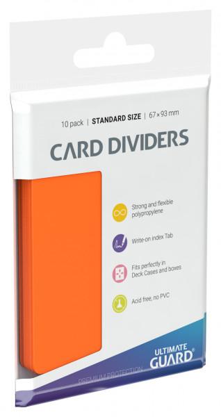 Card Dividers Standard Size Orange