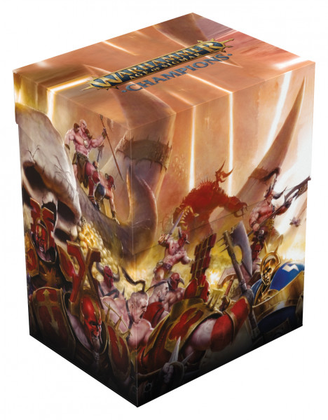 Warhammer Age of Sigmar: Champions Basic Deck Case 80+ Standardgröße Chaos vs. Order