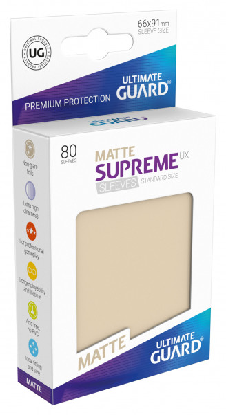Supreme Sleeves Standard Size Matt UX Sand (80)