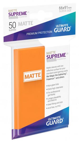 Supreme Sleeves Standard Size Slim Matt UX Orange (50)