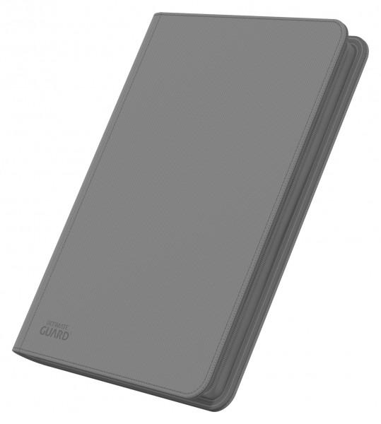 8-Pocket QuadRow ZipFolio XenoSkinTM Grey