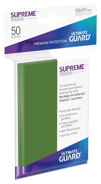 Supreme Sleeves Standard Size Slim UX Green (50)
