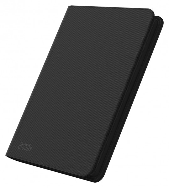 8-Pocket QuadRow ZipFolio XenoSkinTM Black