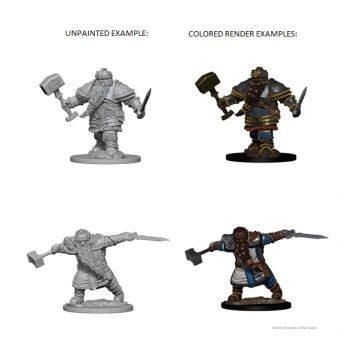 Dungeons & Dragons Nolzur`s Marvelous Unpainted Miniatures: W1 Dwarf Male Fighter