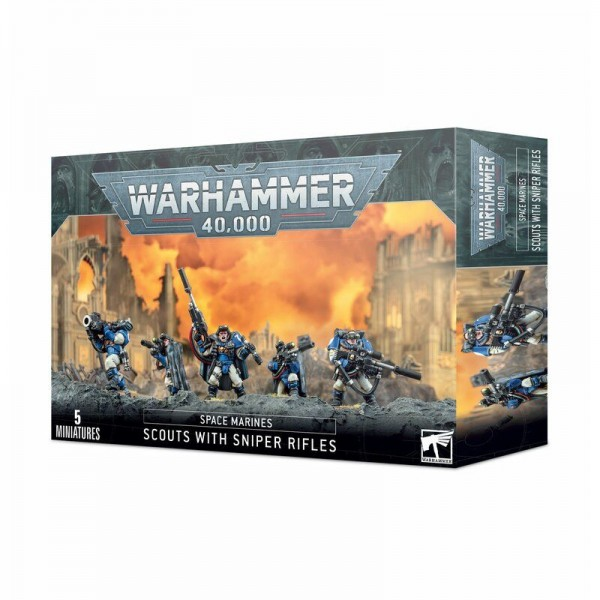 Space Marines Scouts With Sniper Rifles (48-29)