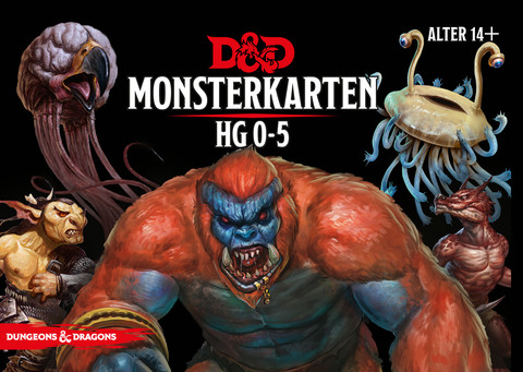 D&D RPG - Monsterkarten: HG 0-5 de.