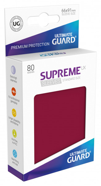 Supreme Sleeves Standard Size UX Burgundy (80)
