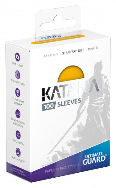 Ultimate Guard Katana Sleeves Standard Yellow (100)