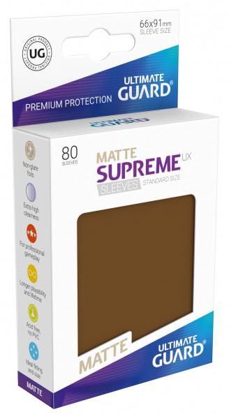 Supreme Sleeves Standard Size Matt UX Brown (80)