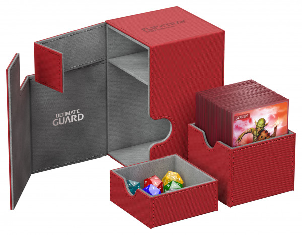 Flip´n´Tray Deck Case 100+ Standard Size XenoSkinTM Red