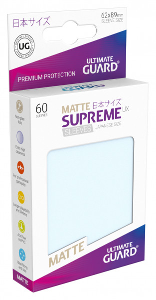 Supreme Sleeves Japan Size Matt UX Transparent (60)