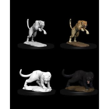 Dungeons & Dragons Nolzur`s Marvelous Unpainted Miniatures: W6 Panther & Leopard