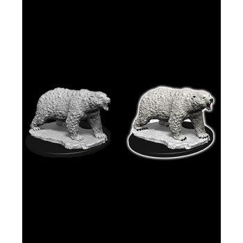 WizKids Deep Cuts Unpainted Miniatures W9 Polar Bear