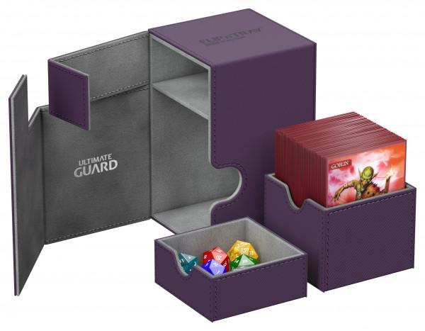 Flip´n´Tray Deck Case 100+ Standard Size XenoSkinTM Purple