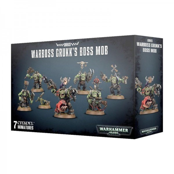 Orks Warboss GrukkS Boss Mob (50-33)
