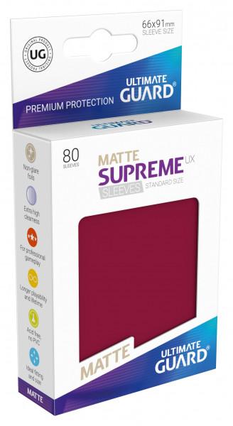 Supreme Sleeves Standard Size Matt UX Burgundy (80)