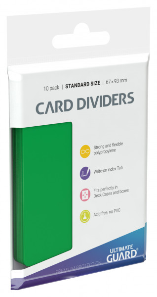Card Dividers Standard Size Green