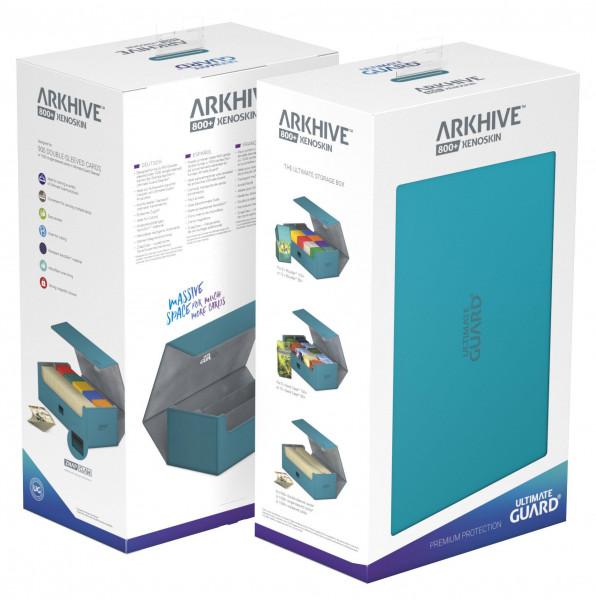 Ultimate Guard Arkhive™ 800+ Standard Size XenoSkin™ Petrol Blue