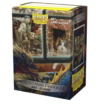 Dragon Shield Art Sleeves - Christmas Dragon (100 Sleeves)
