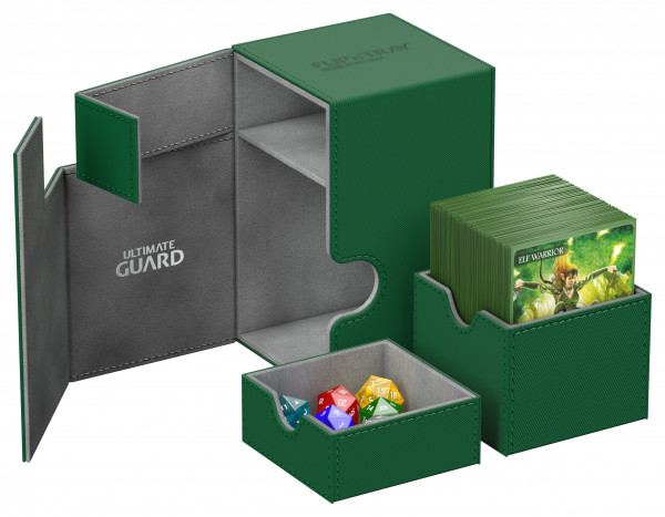 Flip´n´Tray Deck Case 100+ Standard Size XenoSkinTM Green
