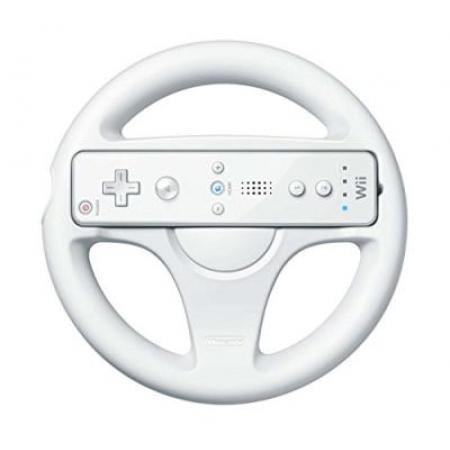 Wii Wheel Lenkrad - weiß (OV) (Wii, gebraucht) **