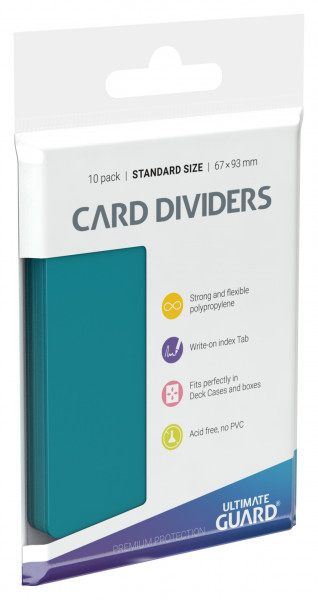 Card Dividers Standard Size Petrol