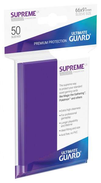 Supreme Sleeves Standard Size Slim UX Purple (50)