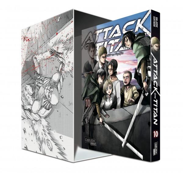 Attack on Titan 10 + Sammelschuber und Extra