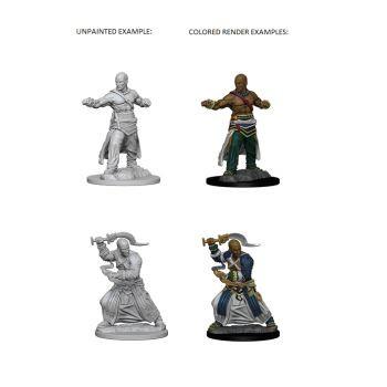 Pathfinder Deep Cuts Unpainted Miniatures: W1 Human Male Monk