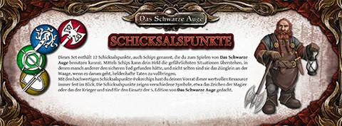 DSA5: Einsteigerbox - Schicksalspunkte-Set (12)
