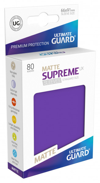 Supreme Sleeves Standard Size Matt UX Purple (80)