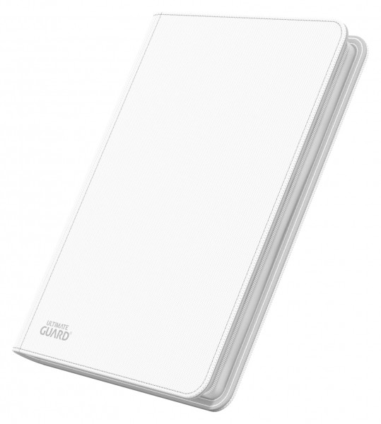 8-Pocket QuadRow ZipFolio XenoSkinTM White