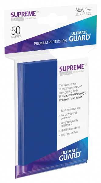 Supreme Sleeves Standard Size Slim UX Blue (50)