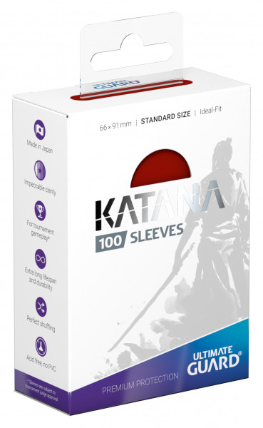 Ultimate Guard Katana Sleeves Standard Red (100)