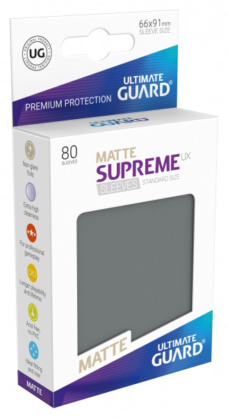 Supreme Sleeves Standard Size Matt UX Darkgrey (80)