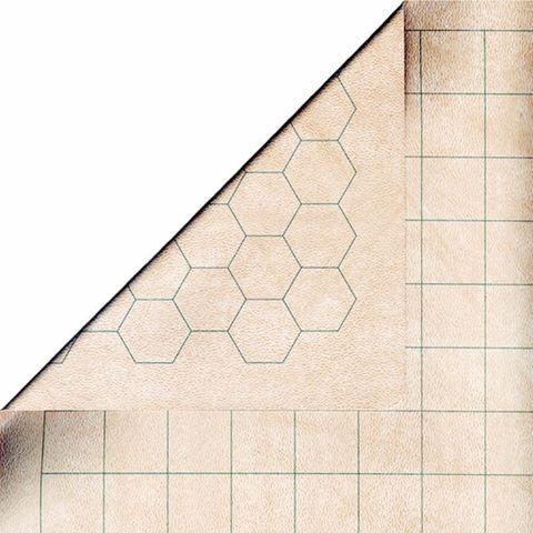 Reversible Battlemat 1 Squares & 1 Hexes (23,5 x26)