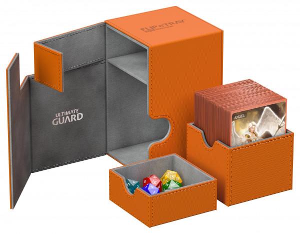 Flip´n´Tray Deck Case 100+ Standard Size XenoSkinTM Orange