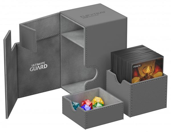 Flip´n´Tray Deck Case 100+ Standard Size XenoSkinTM Grey