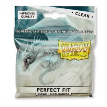Dragon Shield Card Standard Perfect Fit Sideloading Sleeves Clear/Clear (100)