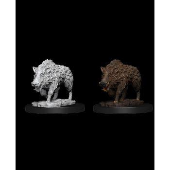 WizKids Deep Cuts Unpainted Miniatures: W7 Wild Boar
