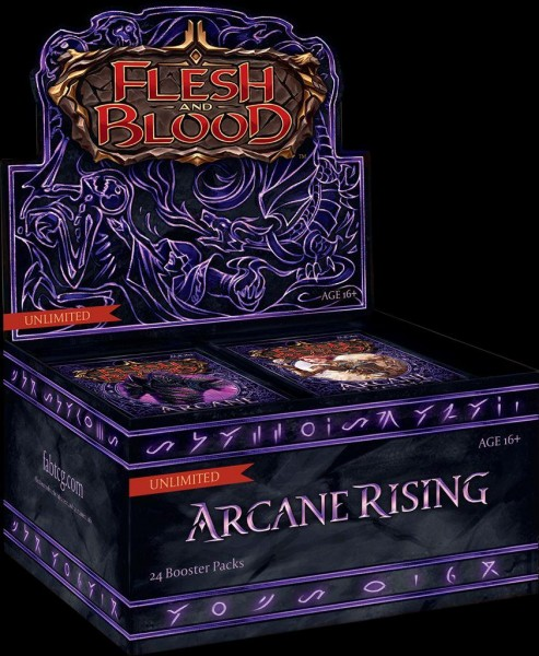 Flesh & Blood TCG - Arcane Rising Unlimited Booster Display (24 Packs) - EN