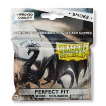 Dragon Shield Card Standard Perfect Fit Sideloading Sleeves Clear/Smoke (100)