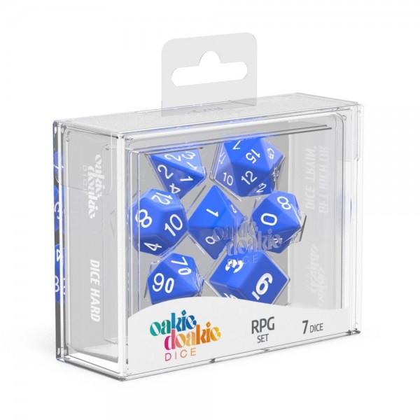 Oakie Doakie Dice Würfel RPG-Set Solid - Blau (7)