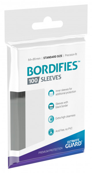 Precise-Fit Sleeves Bordifies&trade,  Standard Size Transparent (100)